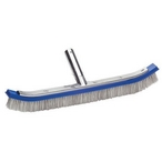 18in. Curved Wall Brush Aluminum Back with Mixed Bristles