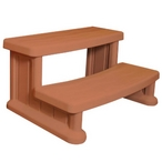 Universal Round or Square Spa Step, Redwood