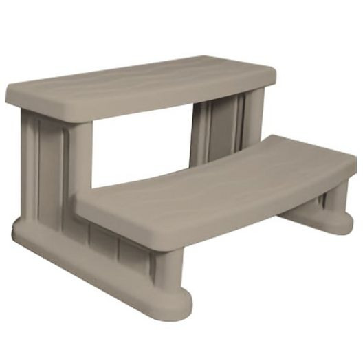 Universal Round or Square Spa Step, Warm Gray