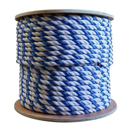 1/2 Inch Dia. Pool Rope - Blue/White (price per ft.)
