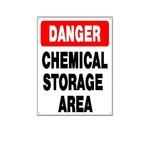 National Stock Sign - Danger Chemical Storage Sign - 24726