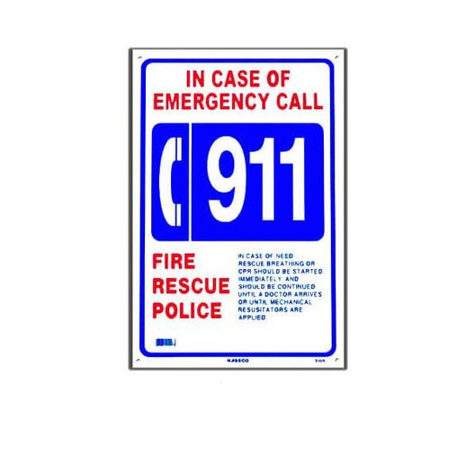 Emergency 911 Sign
