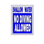 National Stock Sign - Shallow Water, No Diving Sign - 24736