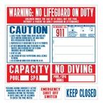 Calif. 2012 Reg. Pool Sign Set - 24746