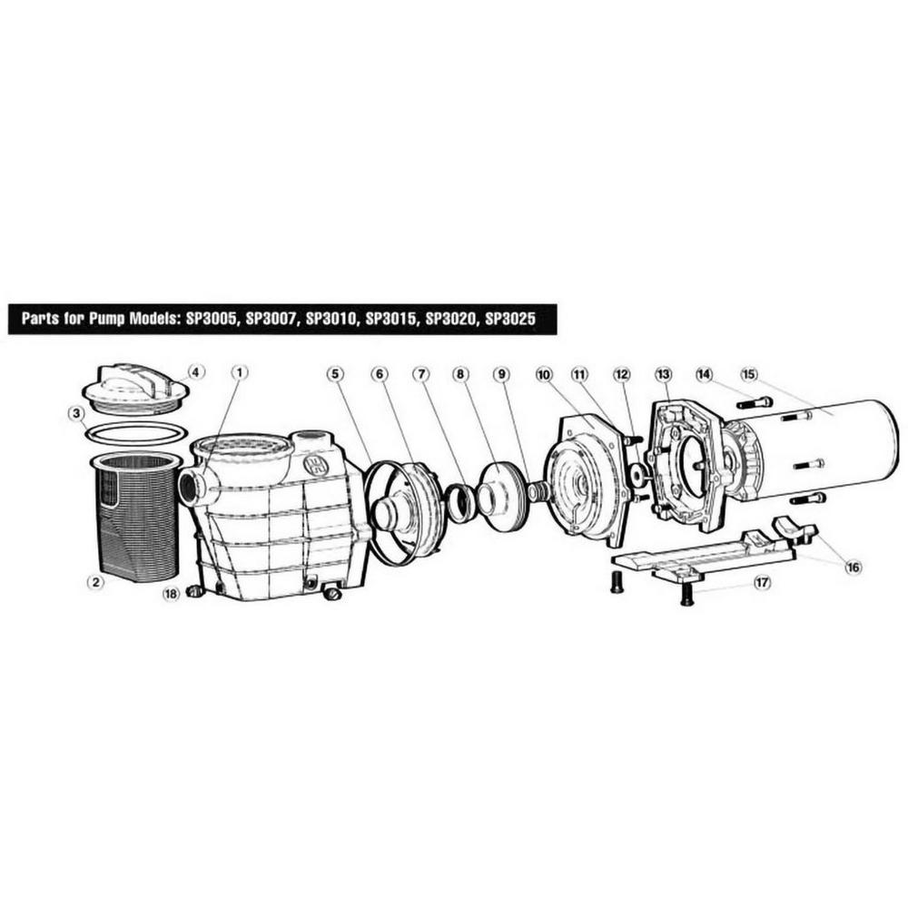 Hayward Super II Series Super II SP3000 Full Rated Pump image