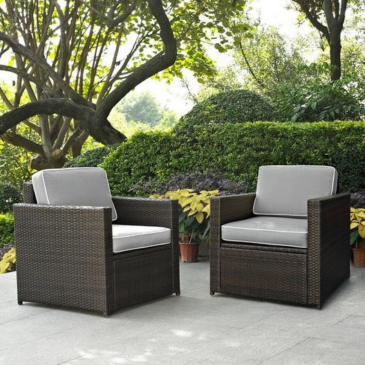 Crosley - Palm Harbor 2-Piece Wicker Seating - 452233