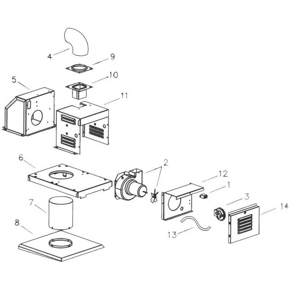 Raypak D2 Heater Power Vent for Models 206/406 - 207/407 image