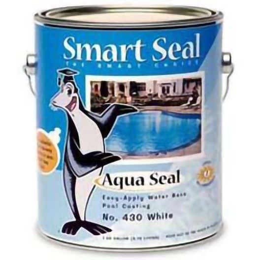 Smart Seal - Aqua Seal Acrylic Pool Paint, 1 Gallon, White - 26650