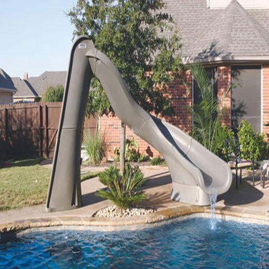 688-209-58123 TurboTwister Right Turn Complete Pool Slide - Sandstone