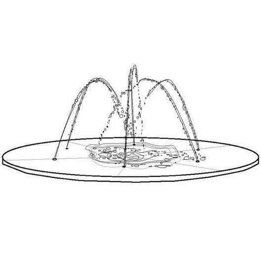 S.R. Smith - Wetdek 6 Nozzle Stand Alone - 28365