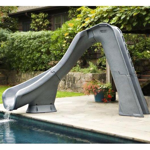 Typhoon Right Turn Complete Pool Slide - Gray Granite - 670-209-58124