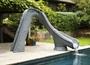 Typhoon Left Turn Complete Pool Slide - Gray Granite
