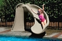 698-209-58123 Cyclone Pool Slide with Right Curve, Sandstone