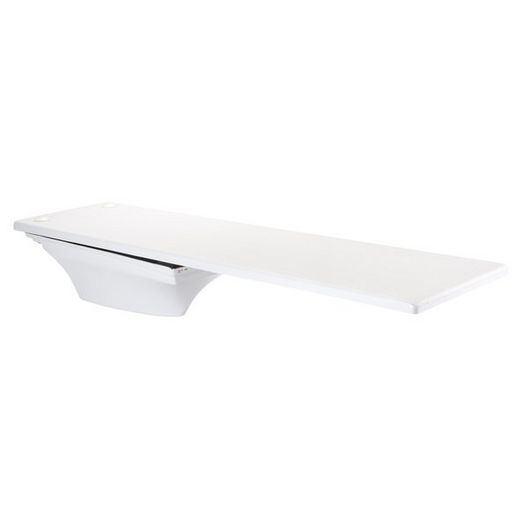 6' Fibre-Dive Diving Board with Flyte-Deck II Stand, Radiant White