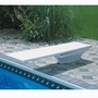 8' Fibre-Dive Diving Board with Flyte-Deck II Stand, Radiant White