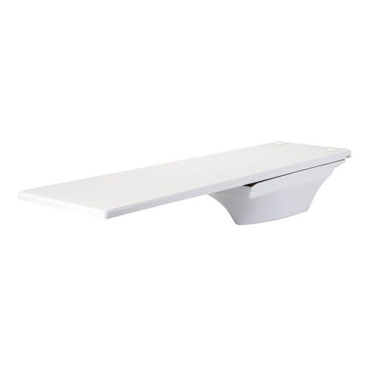 10' Fibre-Dive Diving Board with Flyte-Deck II Stand, Radiant White