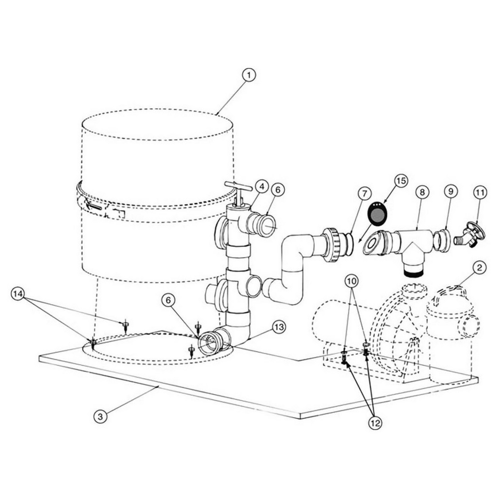 Pentair Pinnacle Pump to Filter Base Kit #181600 image