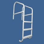 "24"" Commercial 5-Step Cross Braced Pool Ladder, Gray"