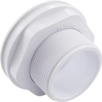 Return Inlet for In-Ground Fiberglass Pool with Locknut, 1-1/2in. Threaded x 1-1/2in. Socket, White