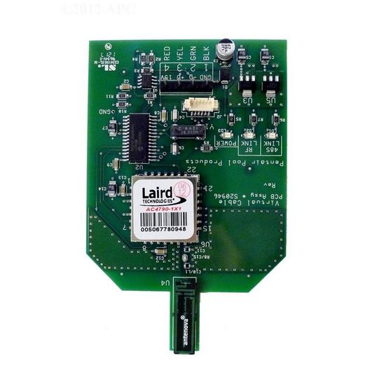 Pentair  520946Z Transceiver PCB with Intg Antenna for EasyTouch and IntelliTouch