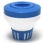 Large Floating Chemical Dispenser, Blue and White