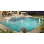 Splash Down Single Stage 22in. Water Lilly Fountain for Concrete Pools, Gray