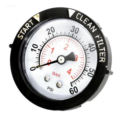 Pentair - Gauge, Pressure 1/4in. Rear/Back Connection NPT 0-60 PSI 2in. Face with Dial