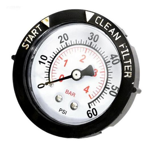 Pentair  Gauge Pressure 1/4in Rear/Back Connection NPT 0-60 PSI 2in Face with Dial