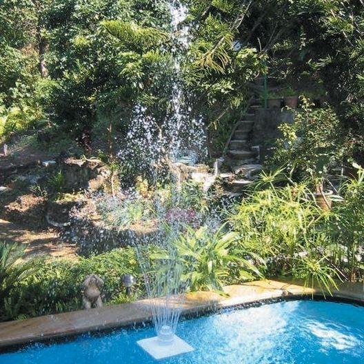Ocean Blue  Grecian 3-Tier Floating Swimming Pool Fountain