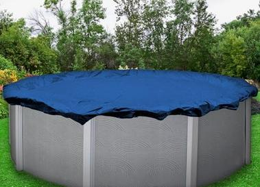 A picture of an above ground pool winter cover