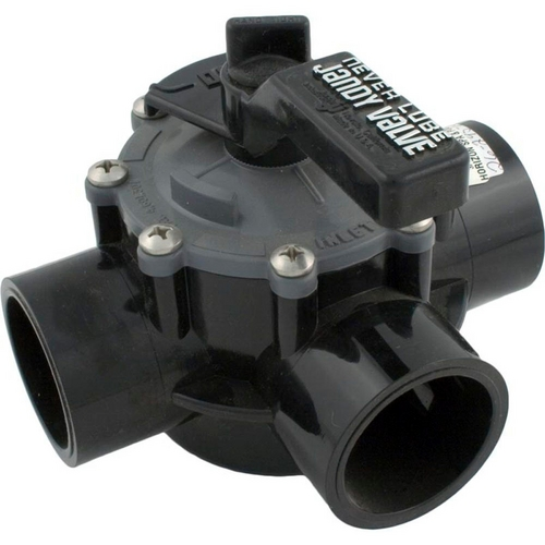 Jandy - NeverLube Three Port Valve 1 1/2in.-2in. Positive Seal with Internal/External Stops