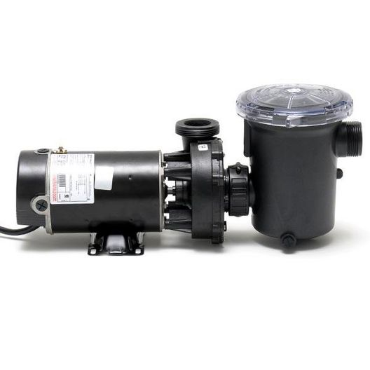 Hi-Flo Side Discharge 48-Frame 1 HP Above Ground Pool Pump 3' Cord, 115V