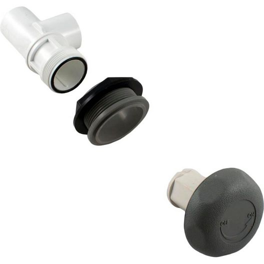 Waterway  On/Off Turn Valve Assembly Single Port Gray