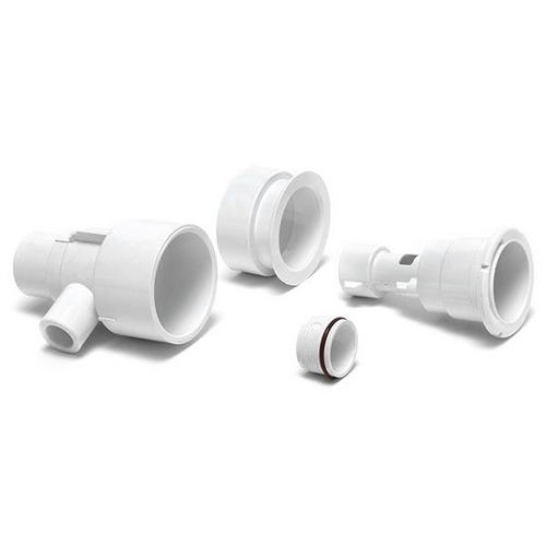 Waterway - Poly Storm Gunite Straight Body Assembly with 1in. Spigot Air x 1-1/2in. Spigot Water and Niche, White