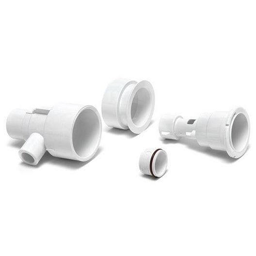 Waterway  Poly Storm Gunite Straight Body Assembly with 1in Spigot Air x 1-1/2in Spigot Water and Niche White