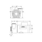 Viper 56-Frame 3 HP Dual-Speed Spa Pump - 2 1/2