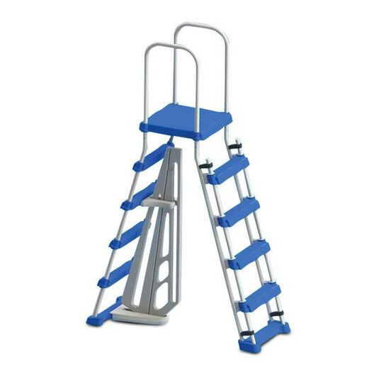 "Above Ground Pool Entry Ladder with Safety Barrier for Pools 48"" - 52"""
