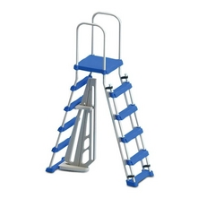 "Oceania - Above Ground Pool Entry Ladder with Safety Barrier for Pools 48"" - 52"""