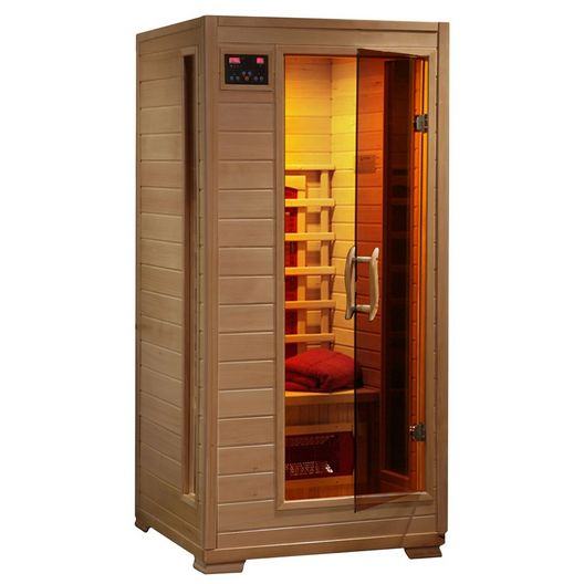 Buena Vista 1-2 Person Hemlock Infrared Sauna w/ 3 Ceramic Heaters