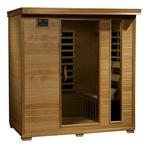 Heatwave - 4-Person Hemlock Infrared Sauna with Carbon Heaters - 303199