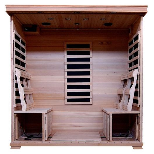 Heatwave - 4-Person Hemlock Infrared Sauna with Carbon Heaters - 303199