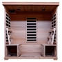 4-Person Hemlock Infrared Sauna with Carbon Heaters