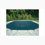 20' x 40' Rectangle Safety Cover with Center End Step, Green 12-Year Mesh