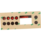 Gecko - Topside Spa Keypad Dual Pump Overlay for TSC-19 Keypad with Four Keys - 304395