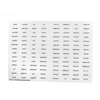Decal Set, Auxiliary Equipment Labels