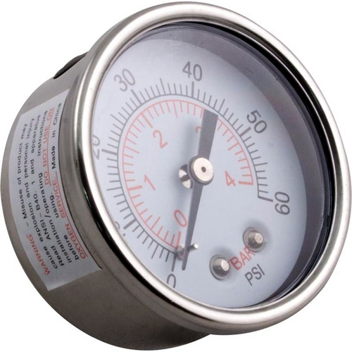 Waterway - Pressure Gauge Clearwater II Waterproof SS