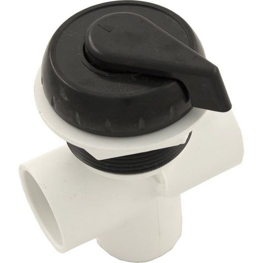 Waterway - 1in. Top Access Diverter Valve Notched, Black - 304882