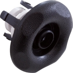 Mini Adjustable Snap-In Spa Jet Eyeball Five-Scallop Textured Escutcheon Assembly, Black