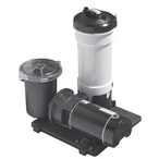 TWM 100 sq. ft. Above Ground Cartridge Filter With 1HP Single Speed Pump With Trap