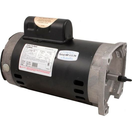 B2982 Square Flange 1HP Dual Speed Full Rated 56Y Pool and Spa Pump Motor